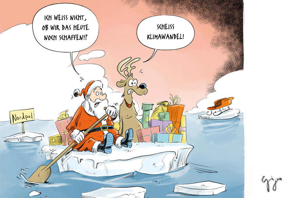 Cartoon Der Woche Xmas Klimawandel Giger Graphics