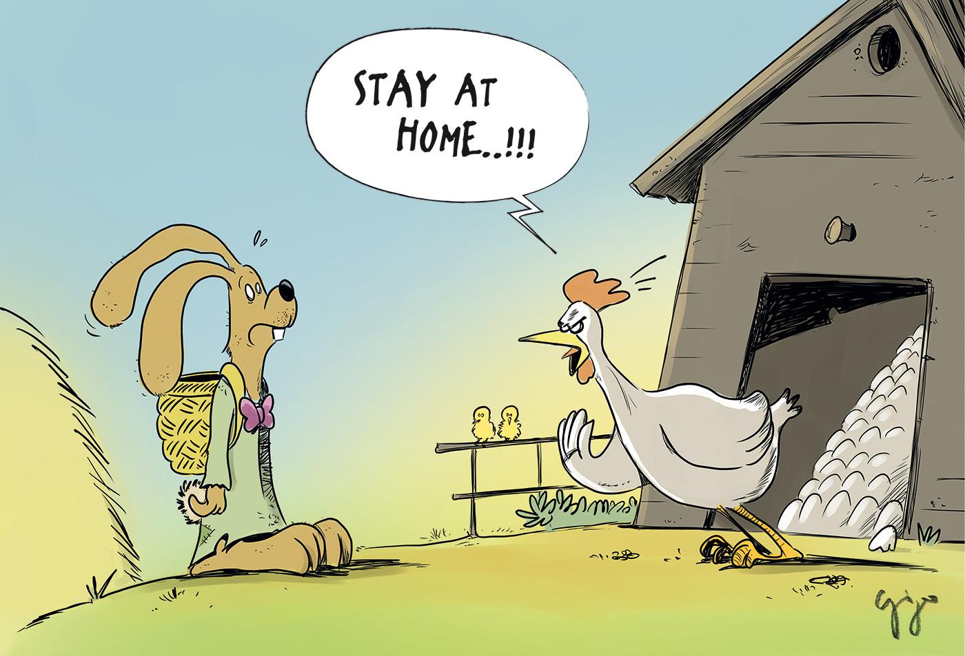 Cartoon der Woche / Corona Ostern Giger Graphics |