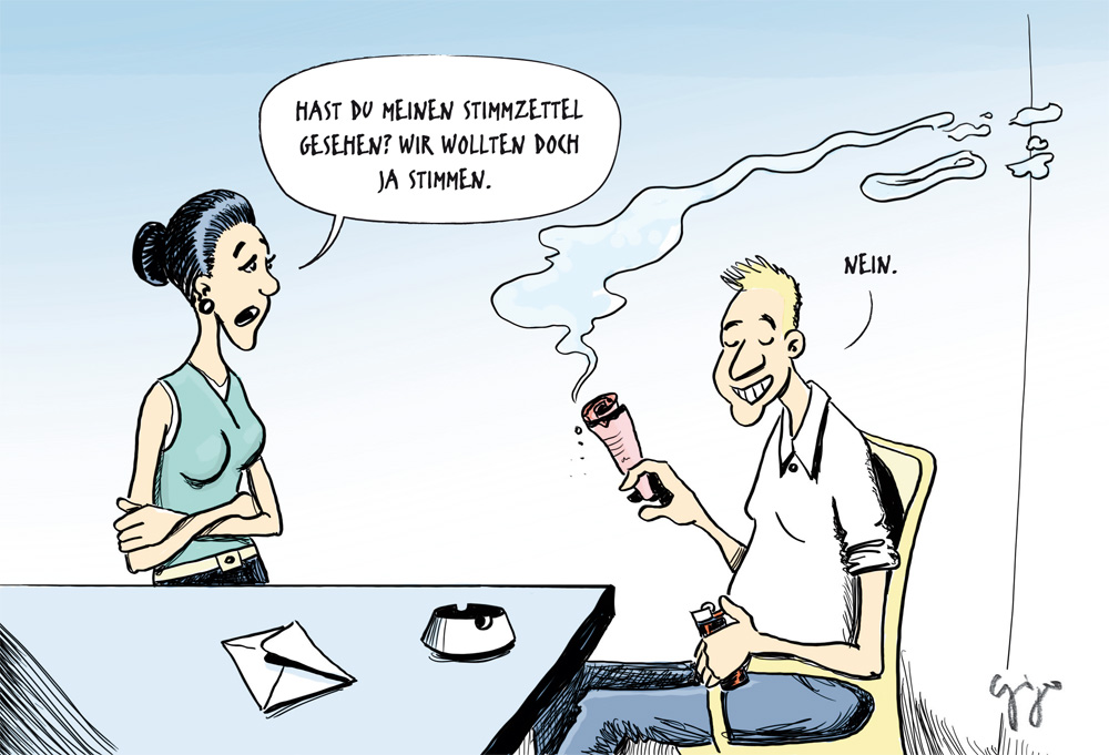 Karikatur Rauchen